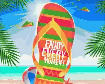 Summer - Enjoy every moment cross stitch kit