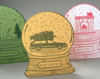 Wagon snow globe, Merry Christmas