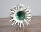 Copper Blue Micro Urchin Bowl - Foodie Gift Blue Small Ceramic Bowl Handmade Pottery