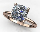 Private Listing for Kaniela - natalie ring - 1.7 carat cushion cut NEO moissanite engagement ring, payment 2 of 2
