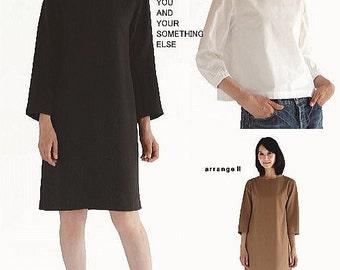 M171 Adult Boat Neck Dress M Pattern - Japanese M Pattern