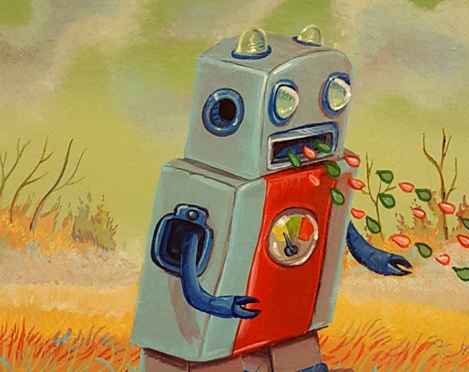 Spitting Robot - Original painting by Mr Hooper of Nashville Tennessee