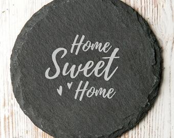 Home Sweet Home Slate Coaster