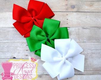 Christmas Trio Pinwheel Set ~ Christmas Bows ~ Red*Green*White Bows