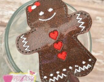 Gingerbread Girl Headband - Christmas Headband