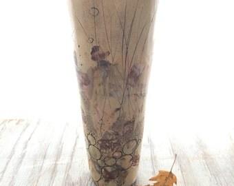 Ivory Landscape Cylinder Vase