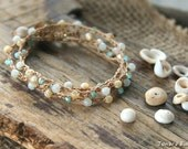 Bracelet Wrap, Crocheted Bracelet, Stacking Bracelet, Beachy Bracelet, Boho Bracelet, Made in Hawaii, Summer Bracelet, Spring Bracelet