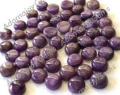 Gemstone Cabochon Charoite 6mm Round FOR TWO