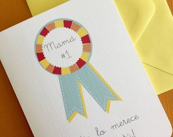 Numero Uno- Spanish mothers day greeting card
