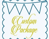 RESERVED LISTING Custom Party Programs and Tags