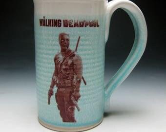 Mustache Mug- The Walking Dead Pool- Right Handed
