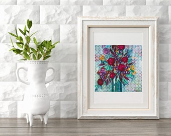 "Giclee Print - ""Mary's Bouquet"" - Fine Art Print of Original Acrylic Painting"