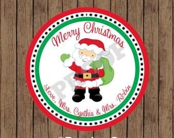 SANTA Sticker / Christmas Sticker / Santa Claus Sticker / Santa Favor Tag / Merry Christmas Favor Tag/Christmas Favor Tag/Christmas Gift Tag