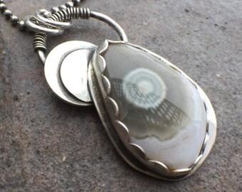 35% OFF - Sterling Silver Ocean Jasper Necklace