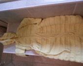 yellow crochet baby sack.  new, 6-12 month. boy or girl