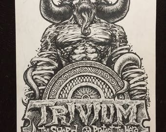Trivium The Sword gigposter original art