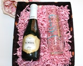 Personalized Champagne Glass for Bridesmaid Proposal Box Gift Will you be My | Maid of Honor Matron of Honor