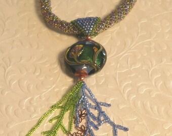 Blue Spring Necklace