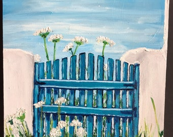 Blue Gate Daily Painting Oil Painting
