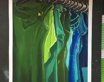 Cool Closet Digital Print From Original Oil Painting