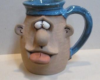 Sassy Tongue Out Mug ........             LEFTY-              e40