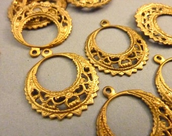 5 Filigree Drops - Chandelier Earring Findings