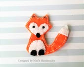 Kids Fox Inspired Iron On Felt Applique, Customize Your Own Felt Applique, Fox Animal Iron on Kids Apparel felt applique, Party Favor Gifts
