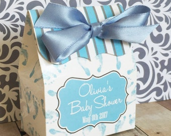 Baby Shower Favor box, Baby Boy favor Box, baby feet Favor box,baby foot print favor, Candy Buffet box, Baby Shower Favors, Treat box