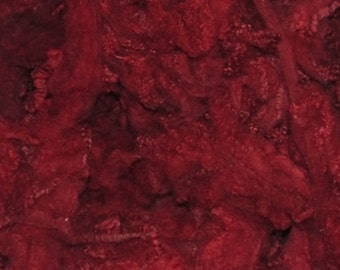 Border Leicester Yearling locks, 1 ounce  Deep Red