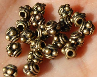 3mm Antiqued Brasstone Bali Style Spacers