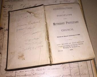 1888 Methodist Protestant Church Book