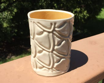 Ceramic Tumbler - Ceramic Water Glass - Handbuilt Pottery - Handmade Pottery and Ceramics