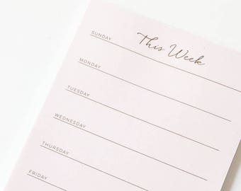 To Do List Notepad, Weekly Planner Notepad, Weekly Menu Planner