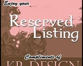 Reserved Listing for Lyn
