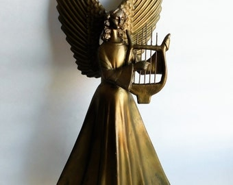VINTAGE Gold Christmas ANGEL