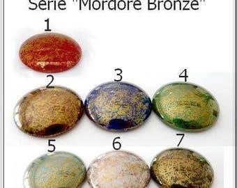 Glass cabochons par Puca® Mordore Bronze 25mm 1 pcs