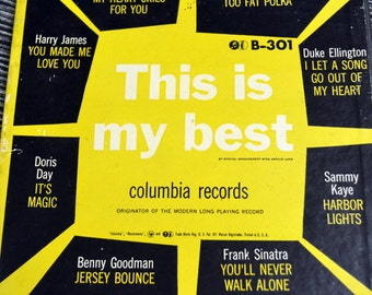 Vintage Music Album This Is My Best 45 records Harry James Benny Goodman Frank Sinatra Doris Day Sammy Kaye Duke Ellington