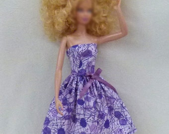 "11.5"" Fashion doll Handmade dress purple"