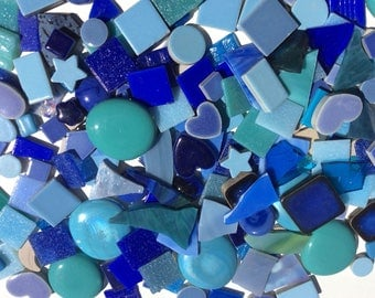 Blue  Mosaic tile sets! Fun materials for your next project. BLUE 1 Pound