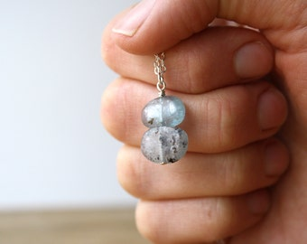 Blue Kyanite Necklace . Meditation Necklace . Raw Kyanite Jewelry . Natural Gemstone Pendant Necklace - Cirrus Collection