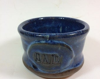 Deep blue handmade apothecary shaving mug/DAD/ holiday gift/Ceramic/potter/ soup bowl/in stock  M15