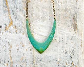 long boho necklace - Hipster necklace - Chevron necklace - bohemian jewelry