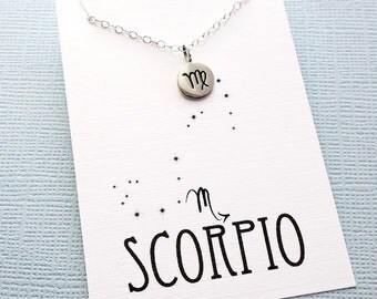 Scorpio Jewelry | Tiny Scorpio Necklace, Zodiac Jewelry, Zodiac Necklace, Celestial Jewelry, Astrology Jewelry, Zodiac Sign Necklace, Zodiac