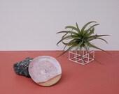 Modern Incense Holder / Minimalist Incense Holder / Dusty Rose / Modern Ceramics