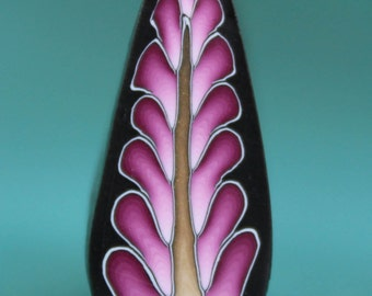 Polymer Clay Purple Feathered Leaf Cane -'Intricacies of the Heart' (27A)