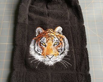 Tiger Embroidered Towel
