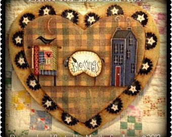 Apple Tree Cottage Original Design E Pattern - Simple Blessings Heart Plaque