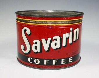 Savarin 1lb Coffee Tin