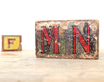 Vintage Alphabet Blocks, Antique Litho blocks, Vintage Toys, Old ABC Blocks, Children's Nursery Room Decor