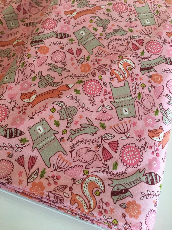 Woodland nursery fabric modern baby quilt fabric for Modern kids fabric